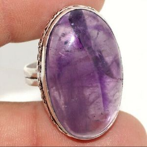 New Amethyst Ring , Size 8, stamped 925